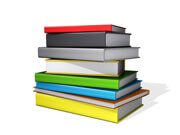Stack of Books on a white background.